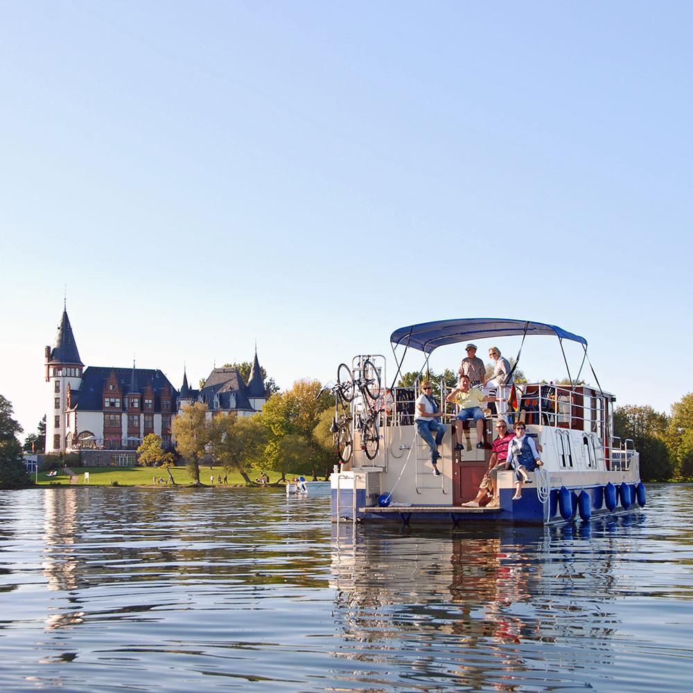 Houseboat Castle Klink, Müritz